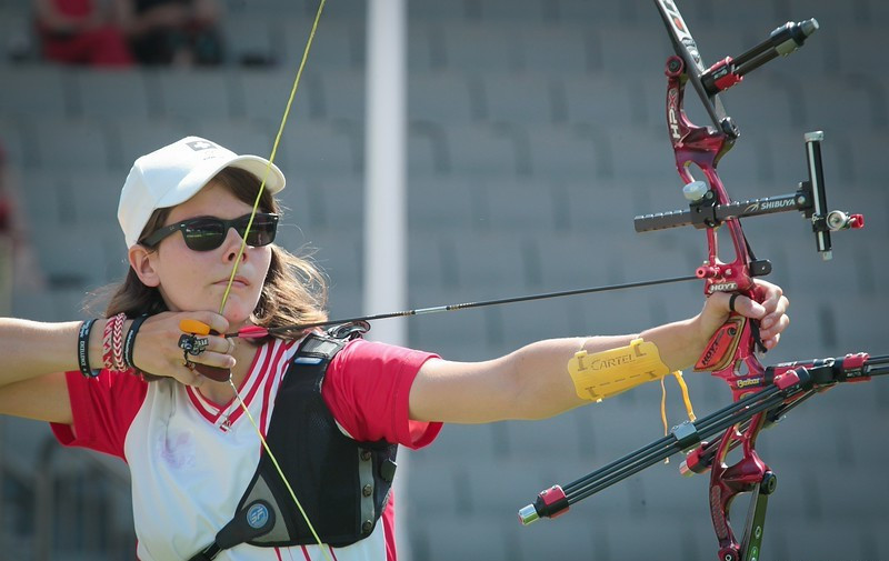 Archer Iliana Deineko will represent Switzerland for a second time at the European Games ©World Archery