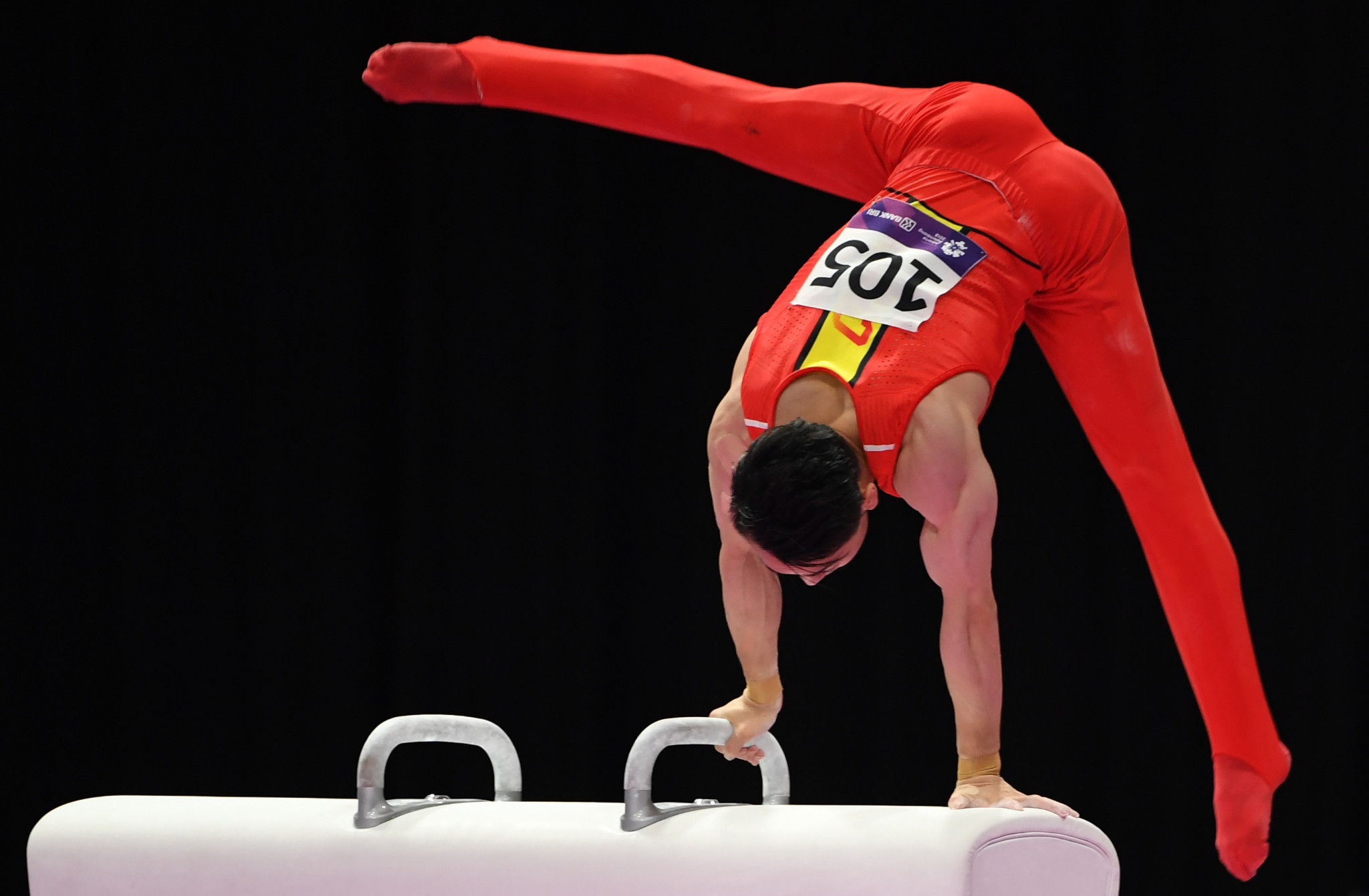 Zou Jingyuan claimed victory in the men's pommel horse ©Getty Images