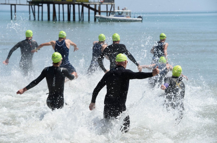 There were previously concerns over the swimming leg of the triathlon competition due to oil pollution in local waters