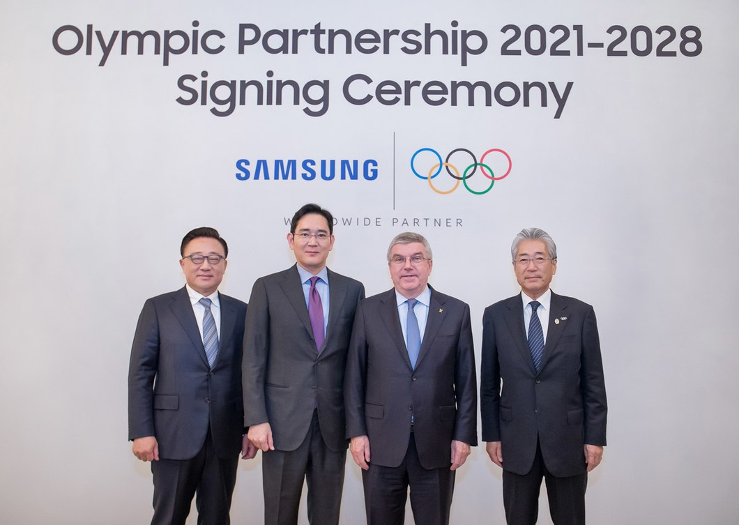 Samsung extended their partnership with the IOC to 2028 in December ©Samsung