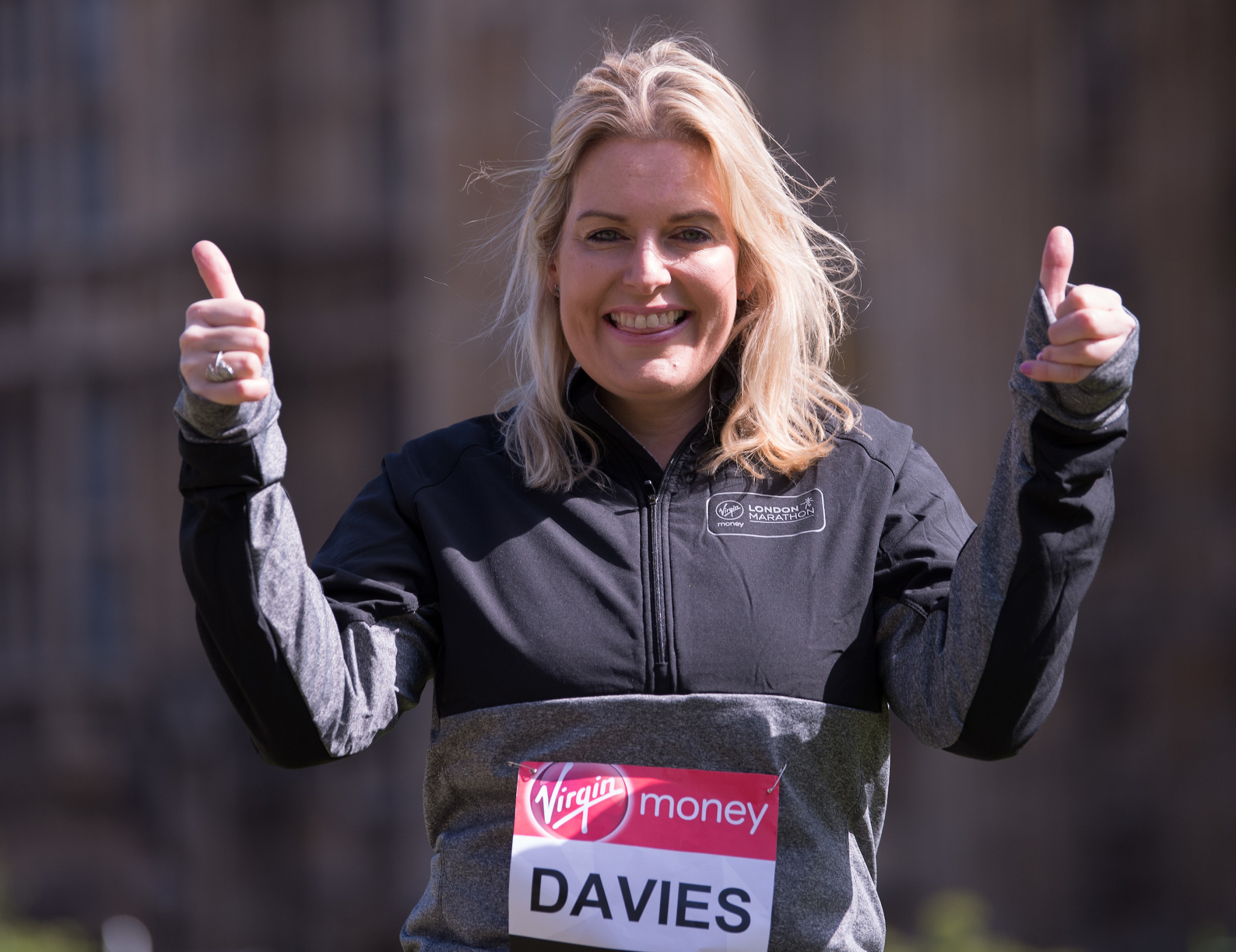 Mim Davies' main qualification for being Sports Minister appears to be that she once ran the London Marathon ©Mim Davies