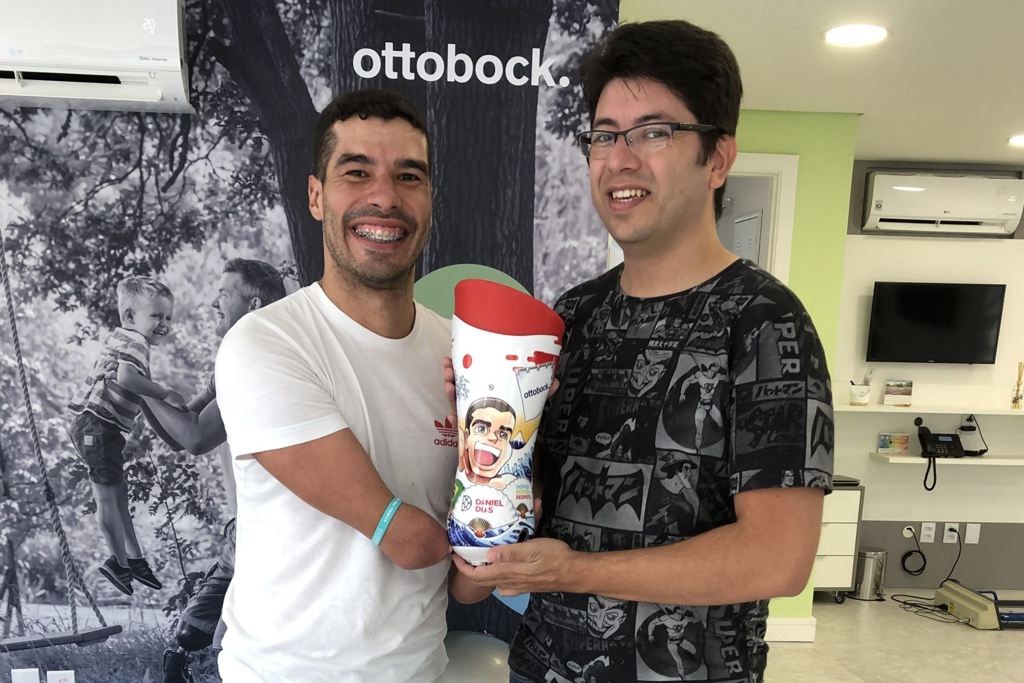 Brazil's multiple Paralympic swimming champion Dias gets manga-style prosthetic for Tokyo 2020