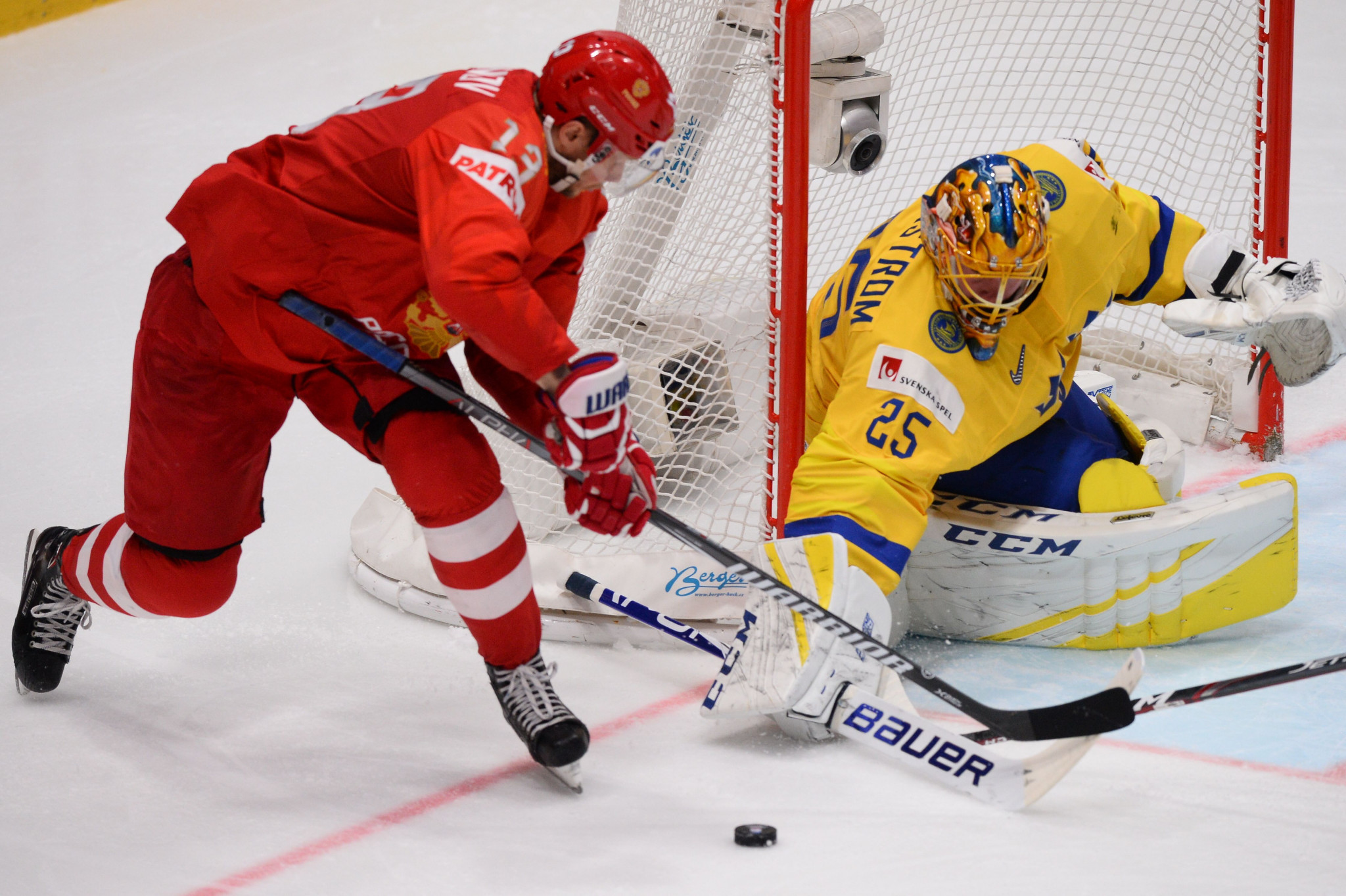 Olympic gold medallists Russia completed the group stage at the IIHF World Championship in Slovakia with a 100 per cent record ©Getty Images