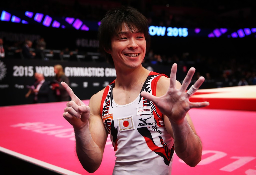 Kohei Uchimura lit up the World Championships in Glasgow by sealing a record sixth straight all-around title