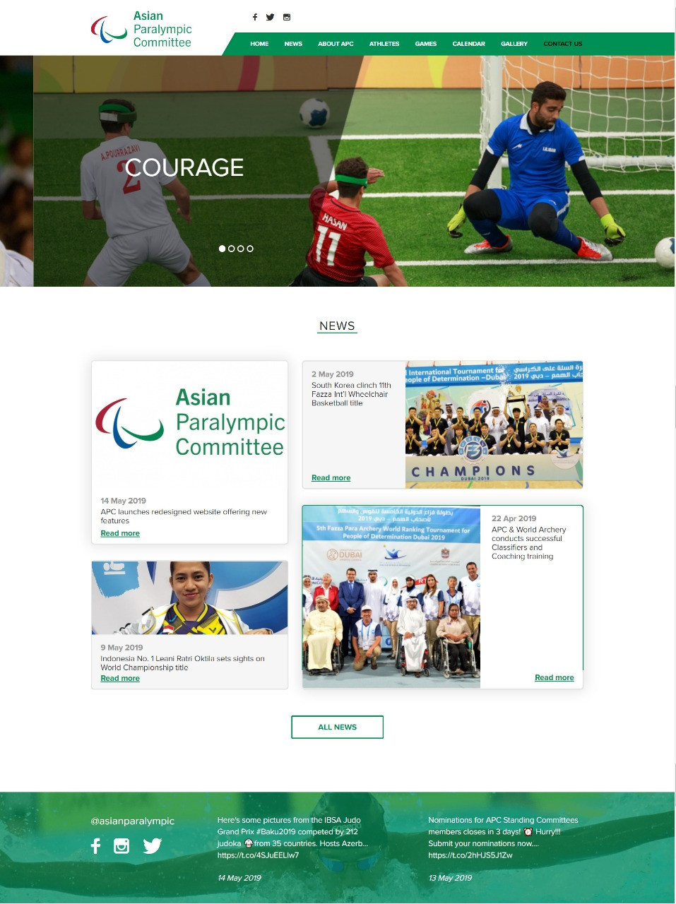 Asian Paralympic Committee launches new website