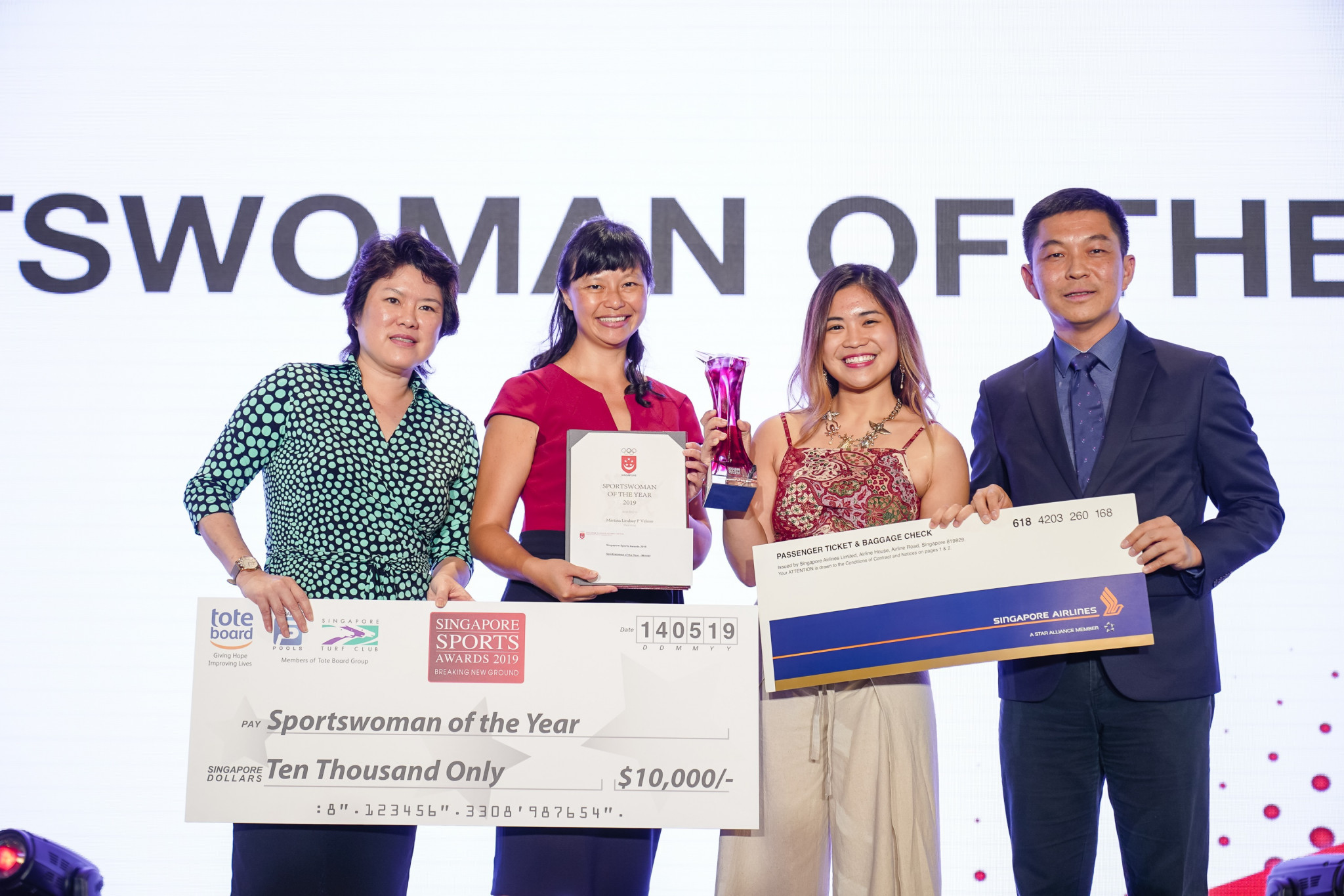 Martina Veloso is a first-time winner of the sportswoman of the year prize ©SNOC