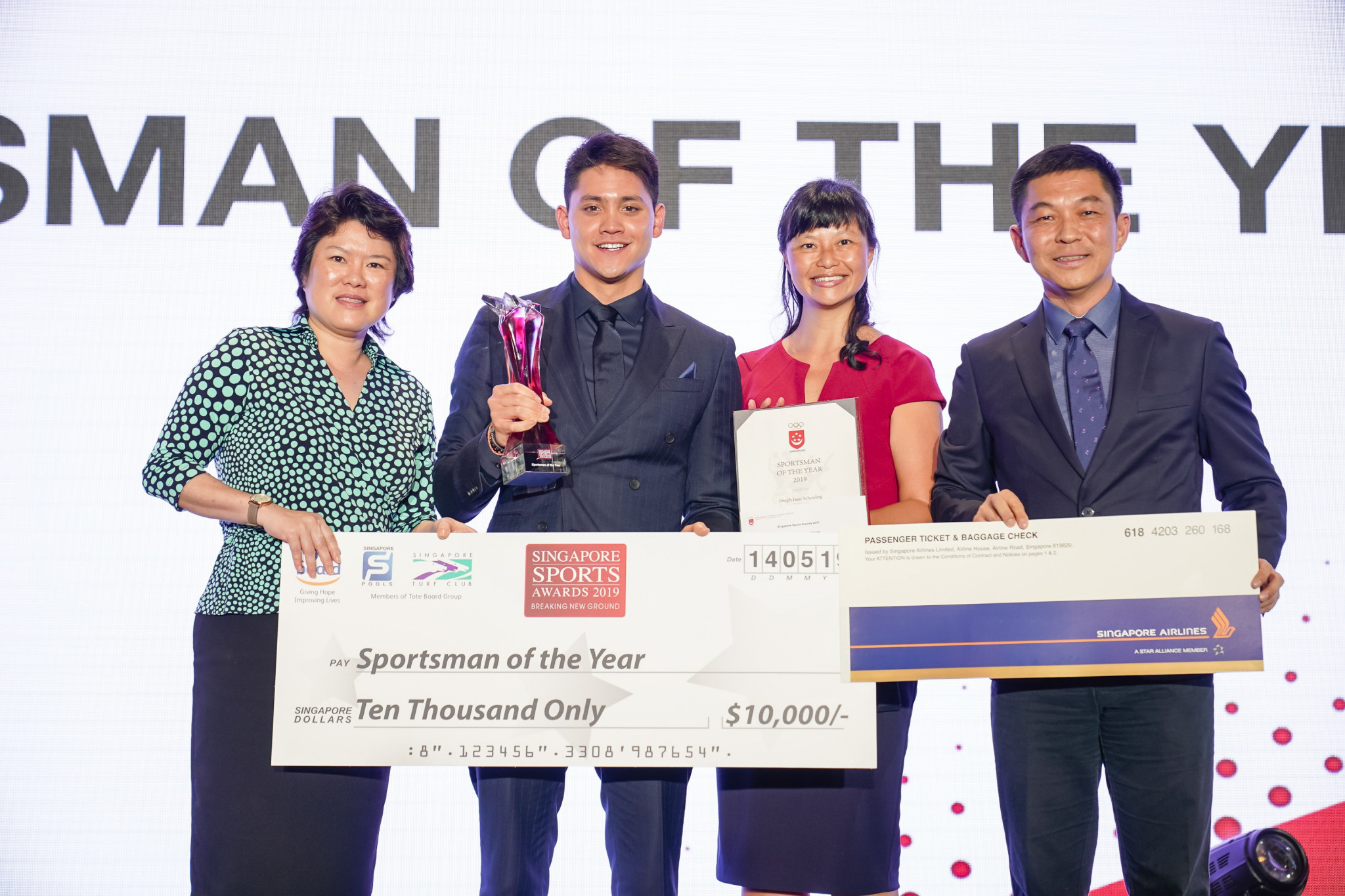 Swimmer Schooling and shooter Veloso named Singapore's sportsman and sportswoman of the year