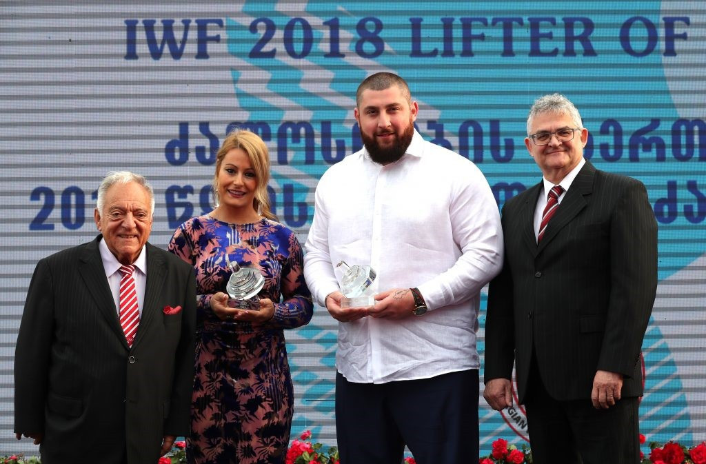 Talakhadze and Valentín receive IWF Lifter of the Year prizes at awards gala