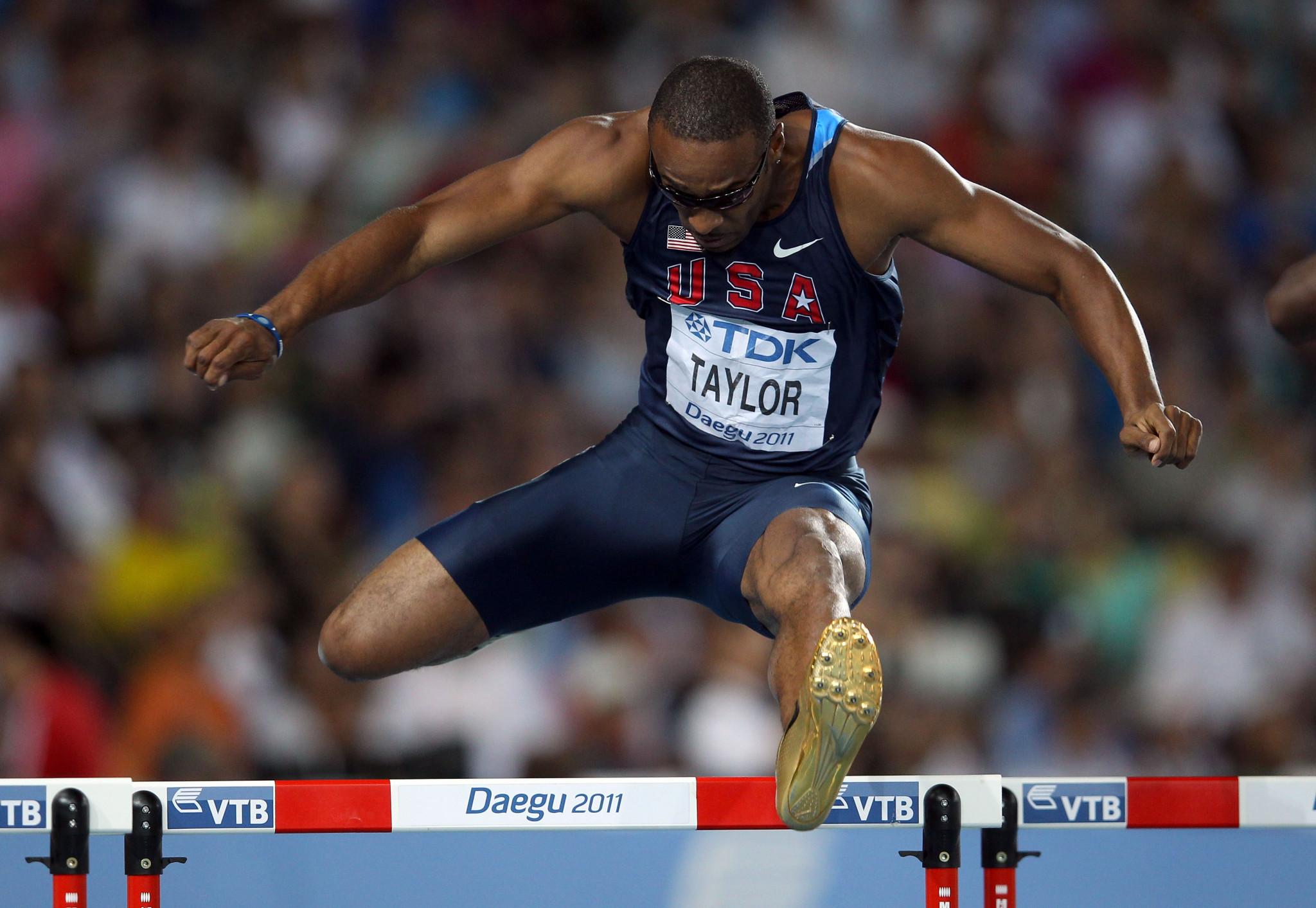 Double Olympic 400m hurdles champion Angelo Taylor has been provisionally suspended from coaching by USATF following the emergence of details of past sexual misconduct charges ©Getty Images