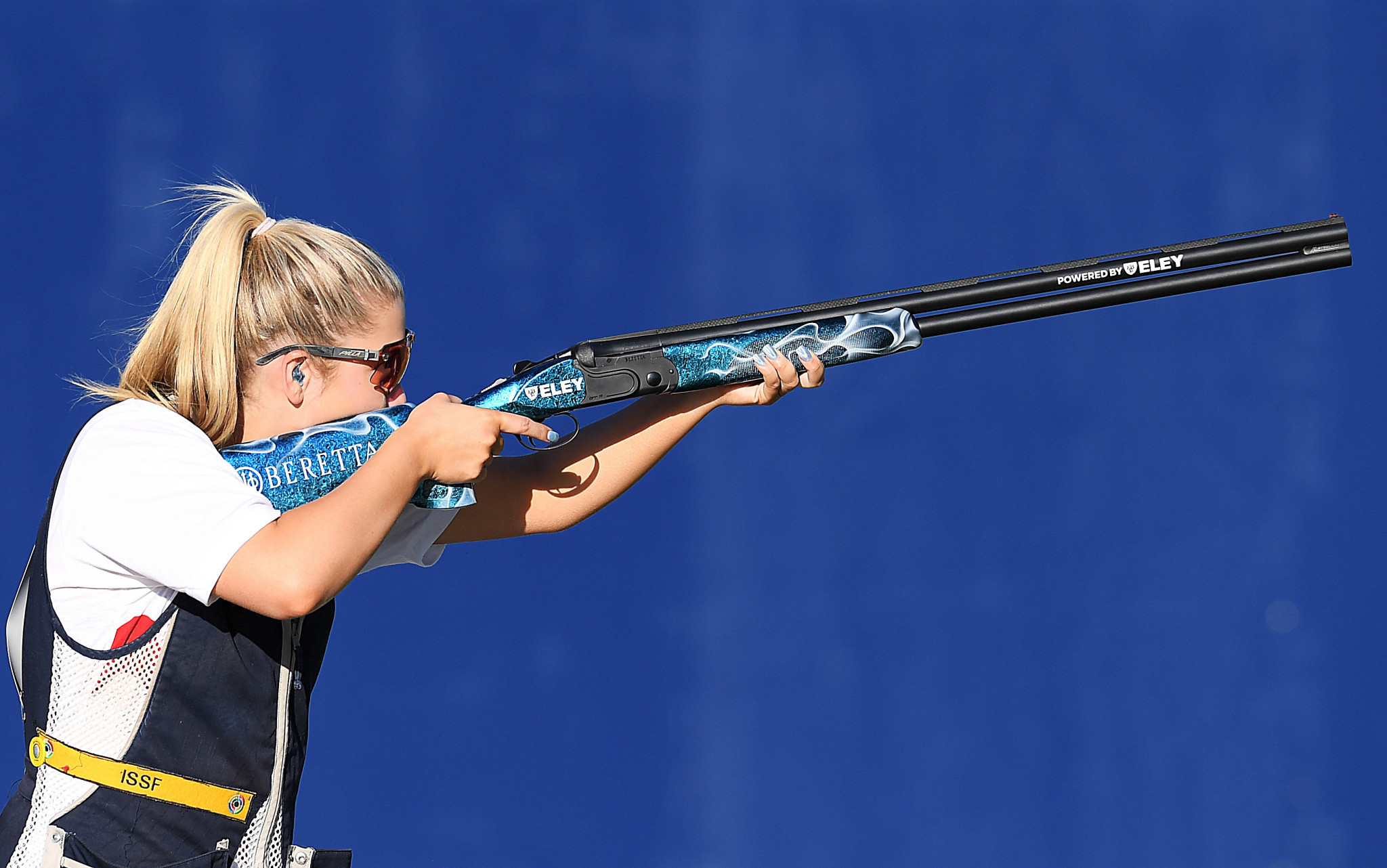 Shooter Amber Hill is one of 18 athletes that will be returning for their second European Games ©Getty Images