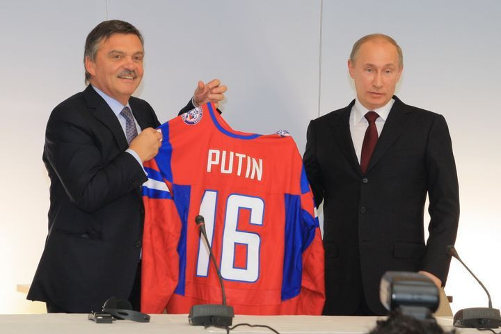 IIHF President René Fasel has enjoyed a close relationship with Russia during his long reign as President and was among the country's biggest supporters during the doping crisis ©Getty Images