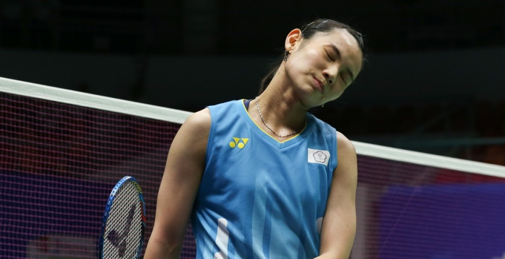 Chinese Taipei's world number one Tai Tzu Ying  gets that losing feeling against South Korean teenager An Se Young at the BWF Sudirman Cup in Nanning, China today ©BWF
