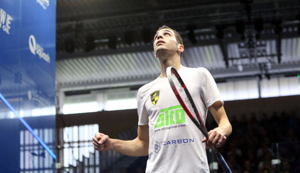 World number one Ali Farag continued his progress at the PSA British Open in Hull after beating fellow Egyptian Marwan ElShorbagy in straight games ©PSA
