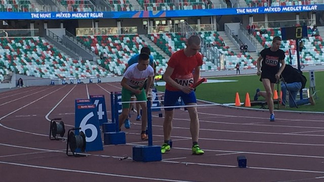 Time-staggered gates, that will facilitate the final event of the DNA competition at the Minsk 2019, have been put to the test in the Belarus capital ©European Athletics