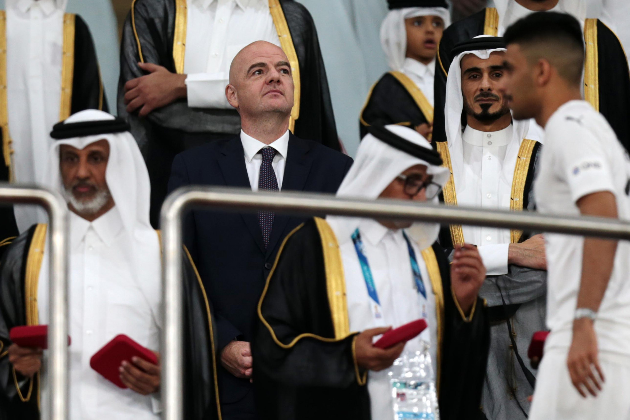 FIFA  President Gianni Infantino has abandoned controversial plans to expand the 2022 World Cup in Qatar 32 to 48 teams ©Getty Images
