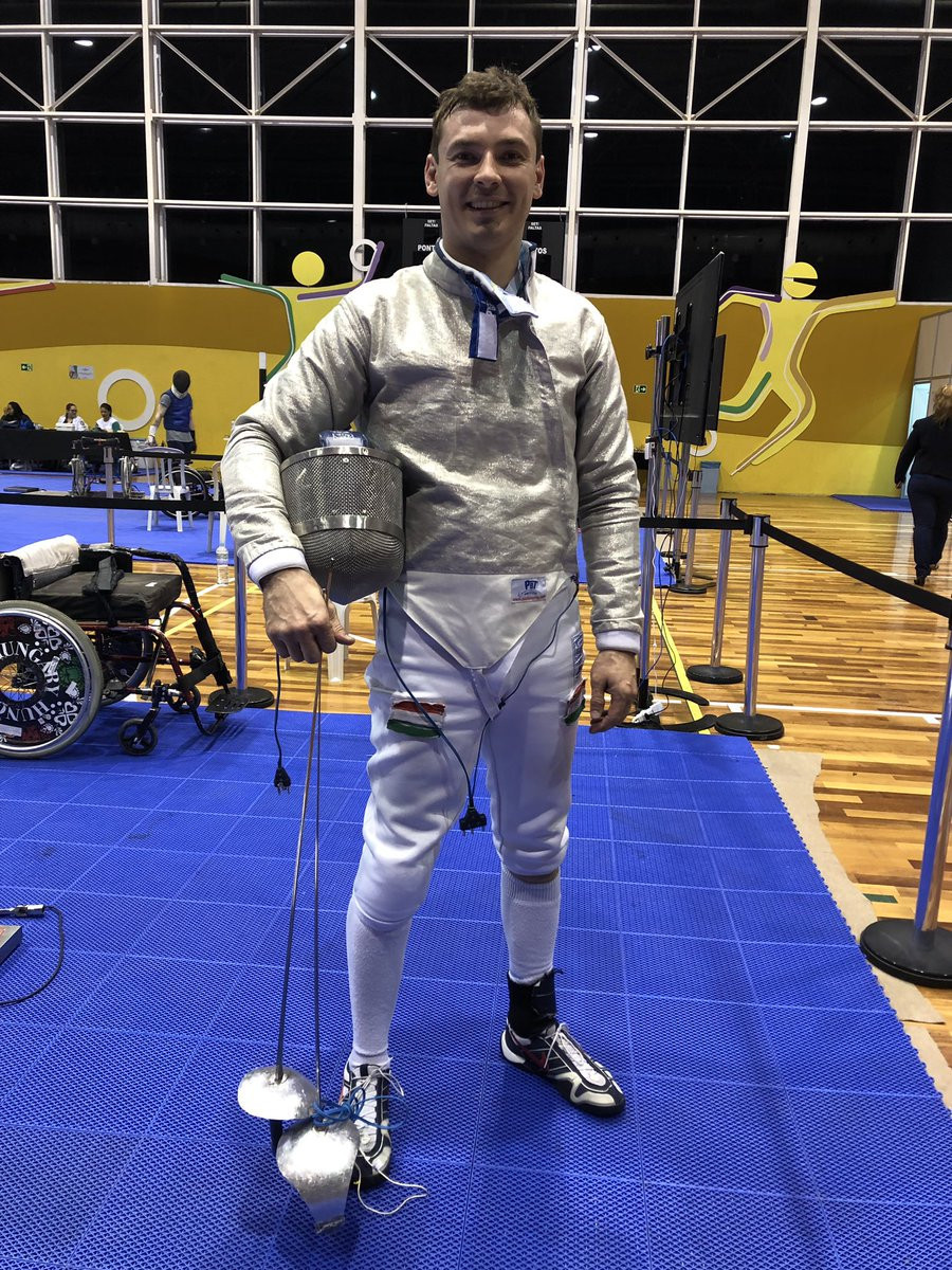 Richard Osvath was one of Hungary's two winners as action began today at the IWAS Wheelchair Fencing World Cup in São Paulo ©Wheelchair Fencing/Twitter