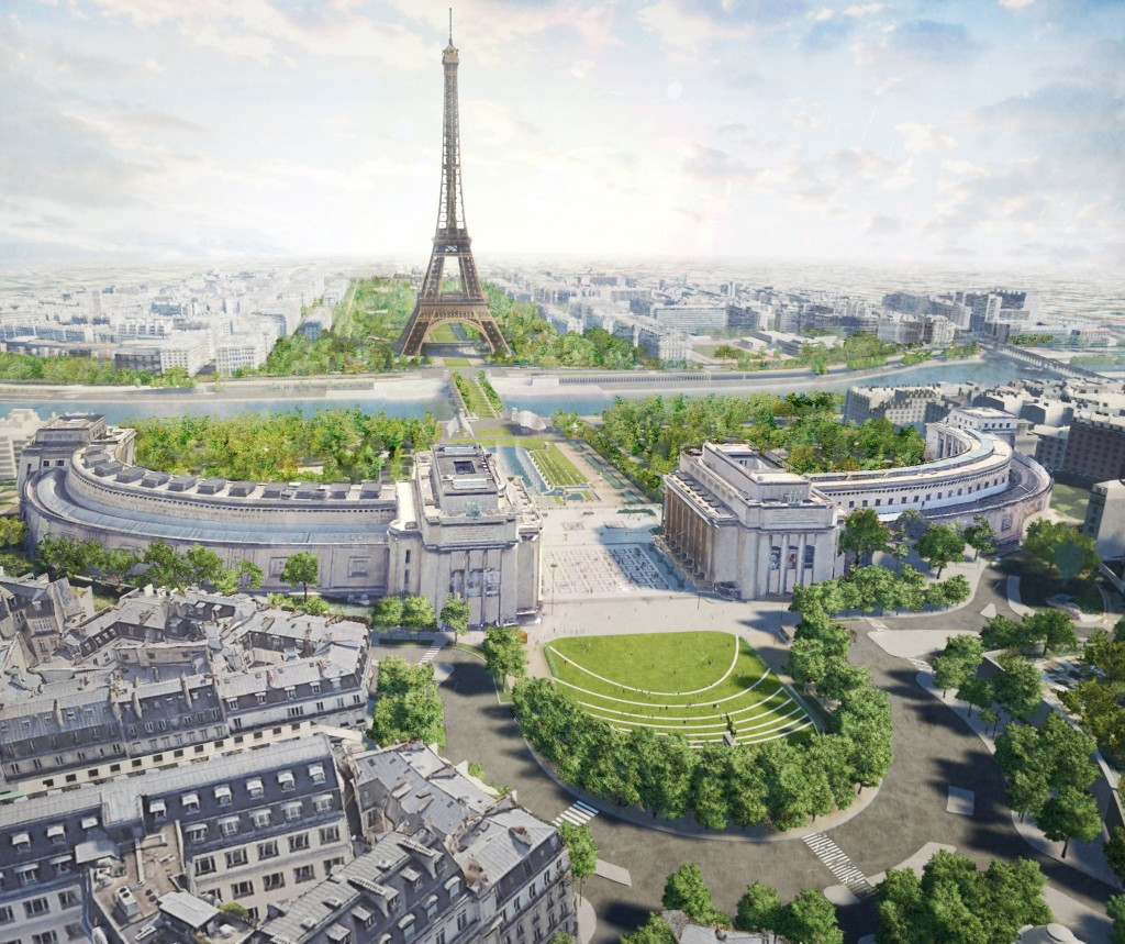 British landscape architecture studio Gustafson Porter + Bowman has won a competition to redesign the area around the Eiffel Tower ©Gustafson Porter + Bowman