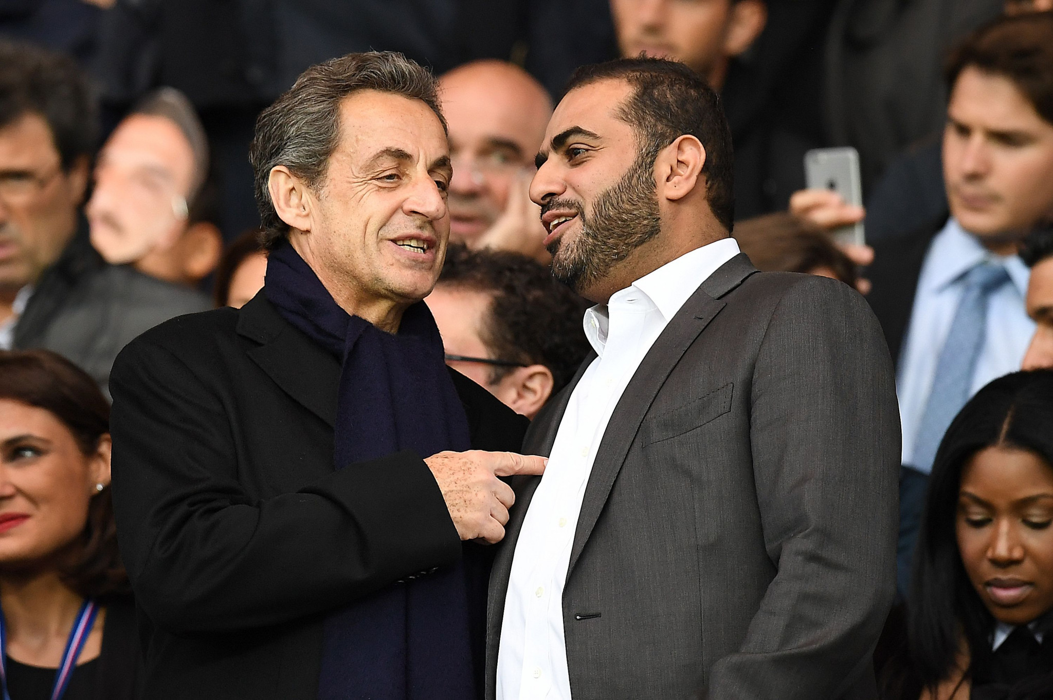 beIN Sports chief executive Yousef Al-Obaidly, pictured with former French President Nicolas Sarkozy, is facing allegations of active corruption over Doha's bid for the IAAF World Championships ©Getty Images