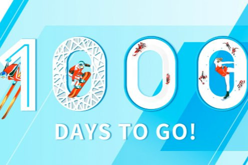 Beijing 2022 Organising Committee holds flash mob on skis as part of 1,000-days-to-go celebrations