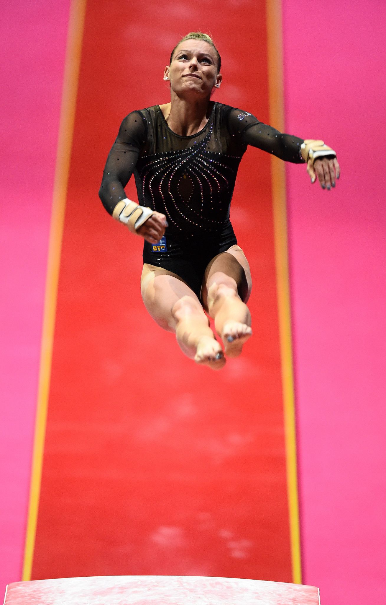 Slovenia's Teja Belak was the strongest performer in women's vault qualification ©Getty Images