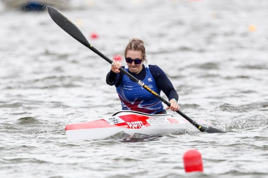 Great Britain's Charlotte Henshaw was a convincing winner in the women's KL2 heats ©ICF