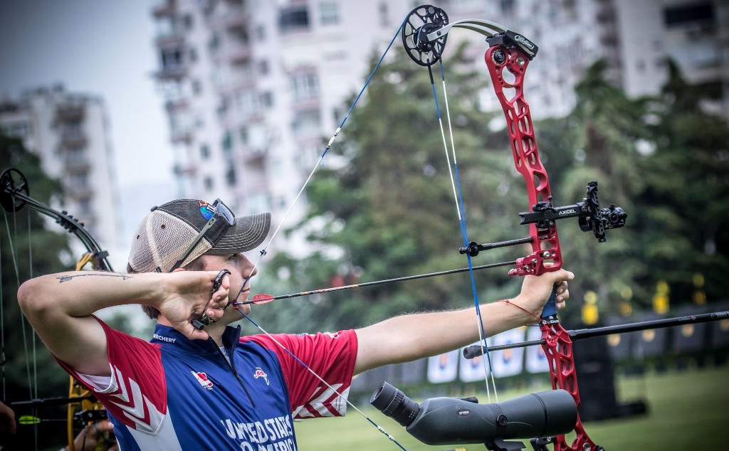 Schaff beats Schloesser to set up all-American men's compound final at Archery World Cup