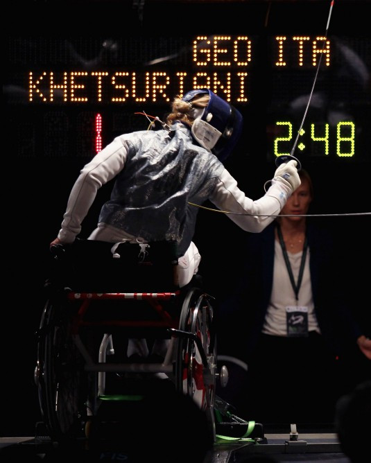 Khetsuriani continues winning streak at IWAS Wheelchair Fencing World Cup in São Paulo