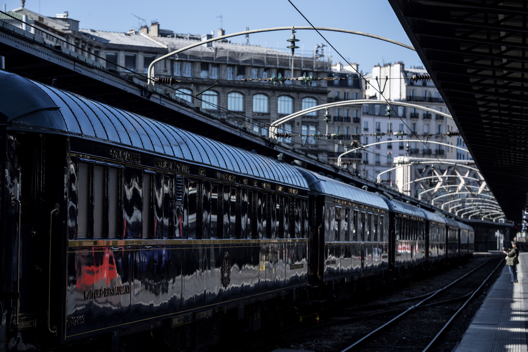 A railway line is set to link Charles de Gaulle Airport and Gare de l'Est, pictured, for the Paris 2024 Olympic and Paralympic Games, but doubts over its commissioning have been raised ©Getty Images