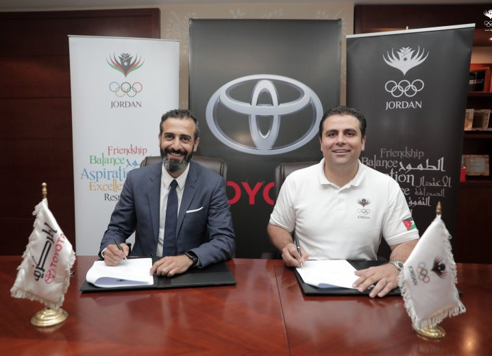 Jordan Olympic Committee sign two-year partnership agreement with Toyota
