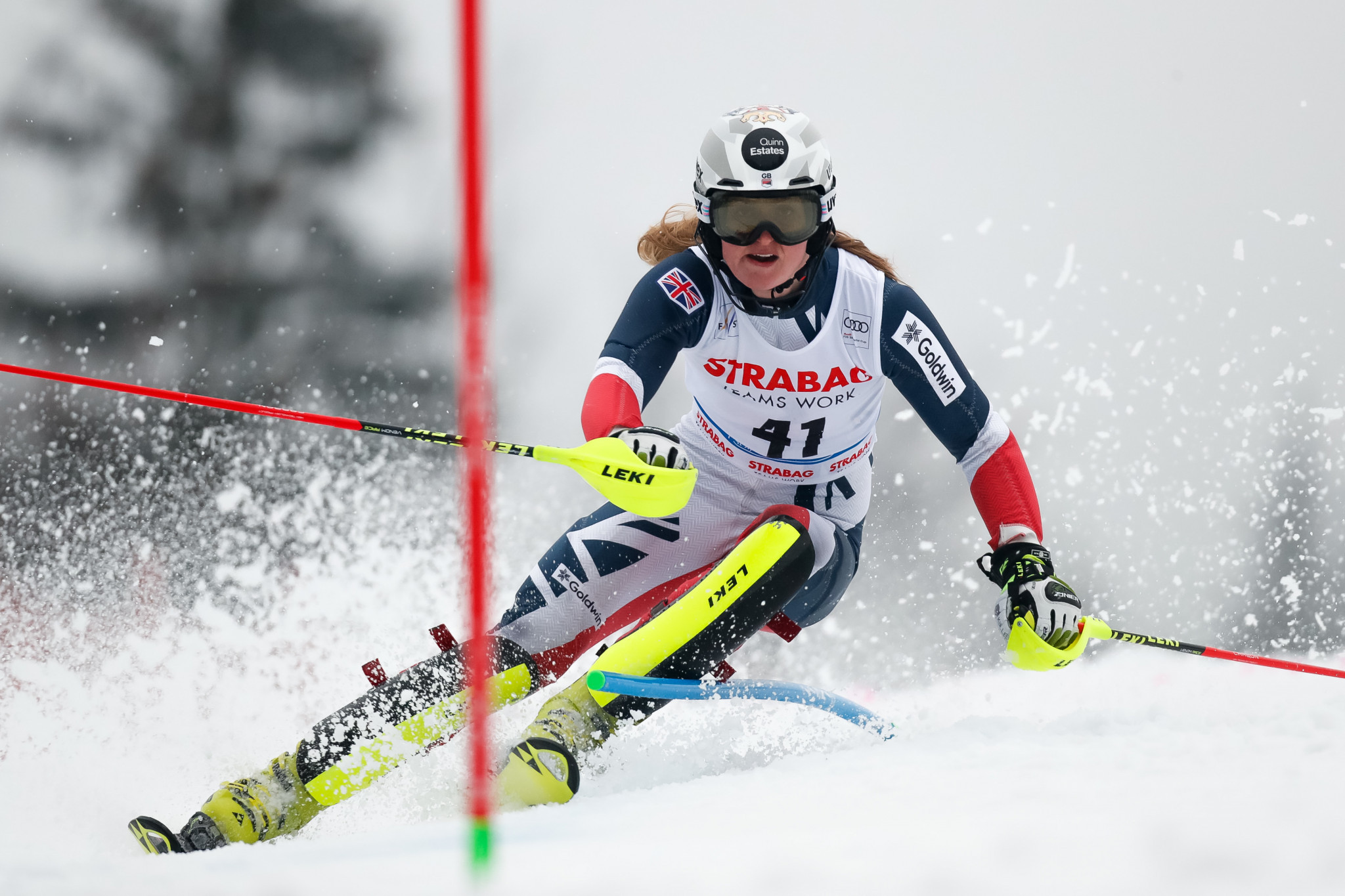Charlie Guest, Britain's first female Alpine skier to win a Europa Cup race, will compete for her country in next season's FIS Alpine Ski World Cup ©Getty Images