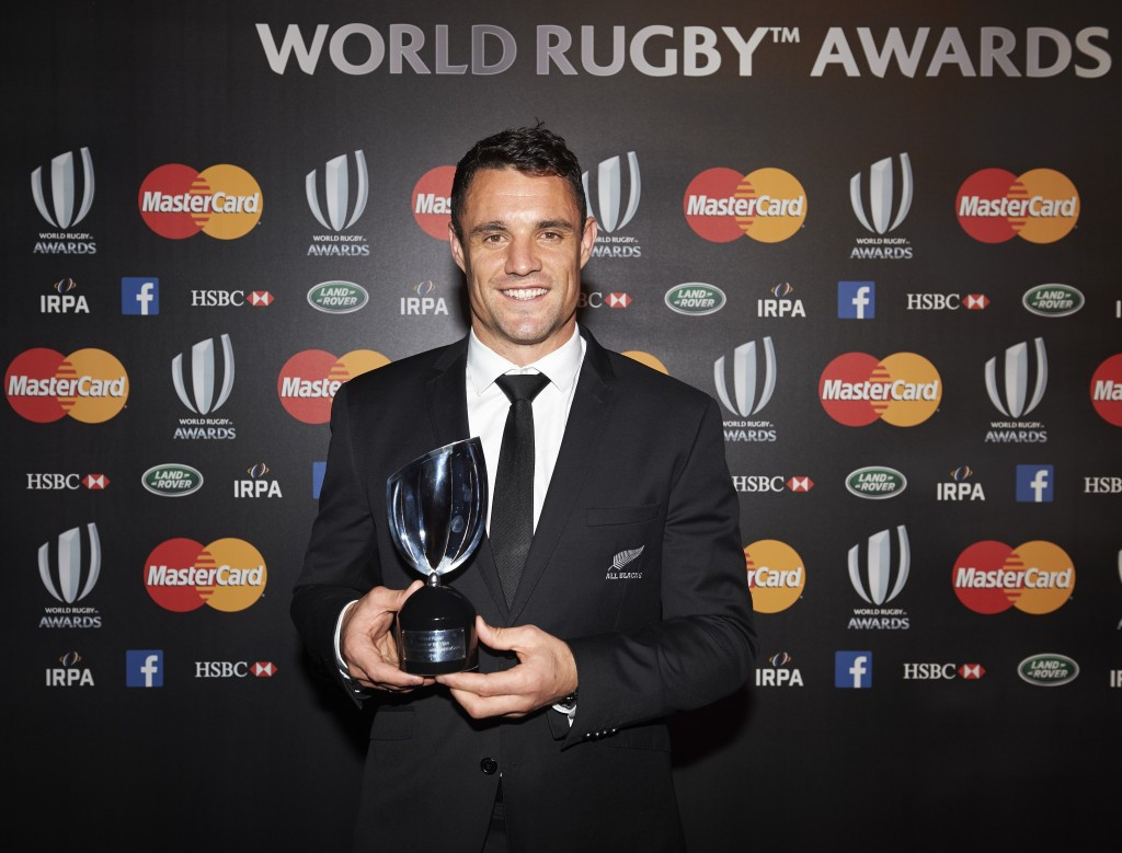 New Zealand star Carter named World Rugby Player of the Year