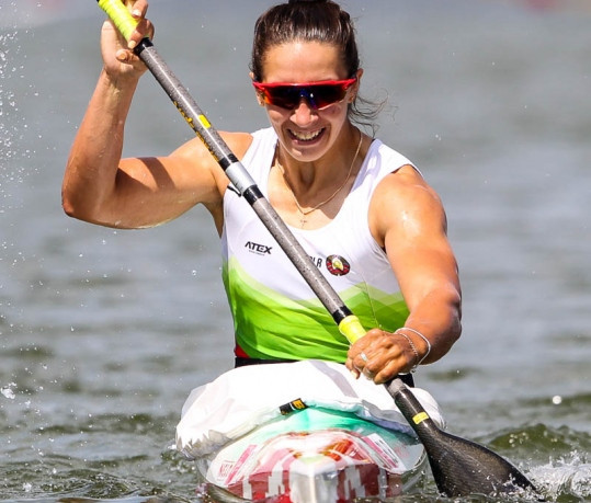 Belarus's Volha Khudzenka achieved the fastest time in the heats of the women's K1 500m at the ICF Canoe Sprint World Cup ©ICF