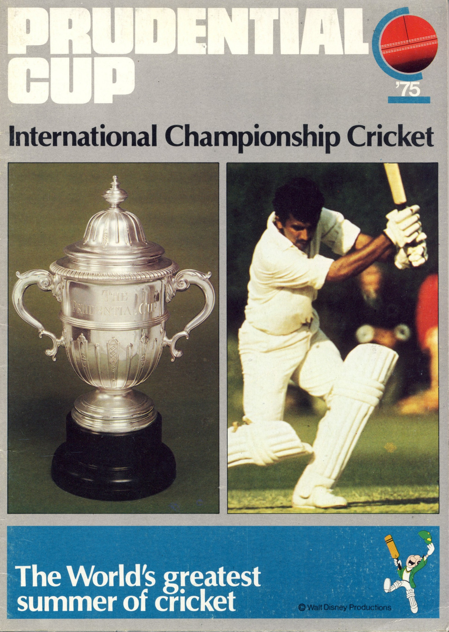 The programme for the first Cricket World Cup ©Philip Barker