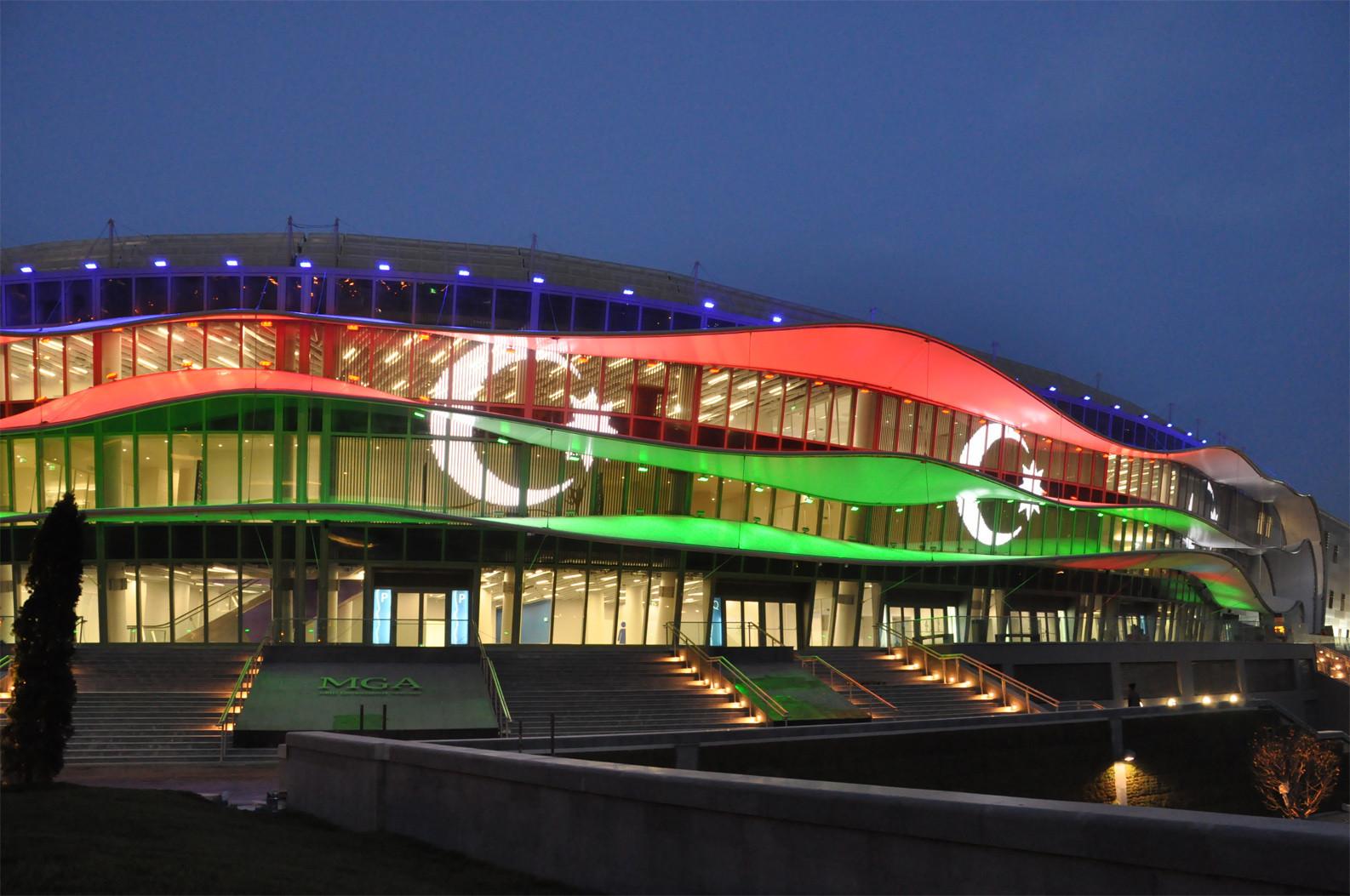 The 2019 Aerobic Gymnastics European Championships are taking place at Baku's National Gymnastics Arena ©Wikipedia
