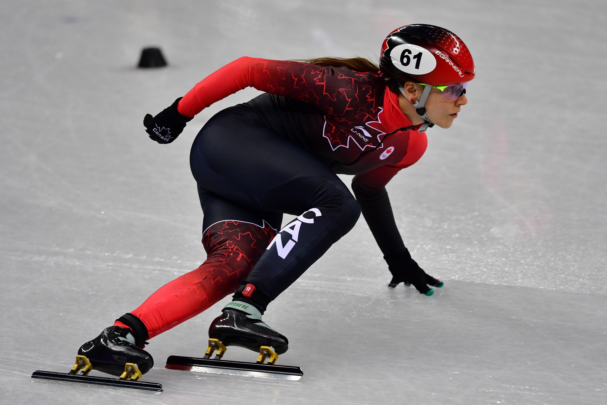Olympian Kasandra Bradette of Canada is also set to retire from speed skating ©Getty Images