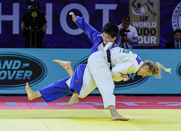 Martyna Trajdos of Germany triumphed in the women's under-63kg competition ©IJF
