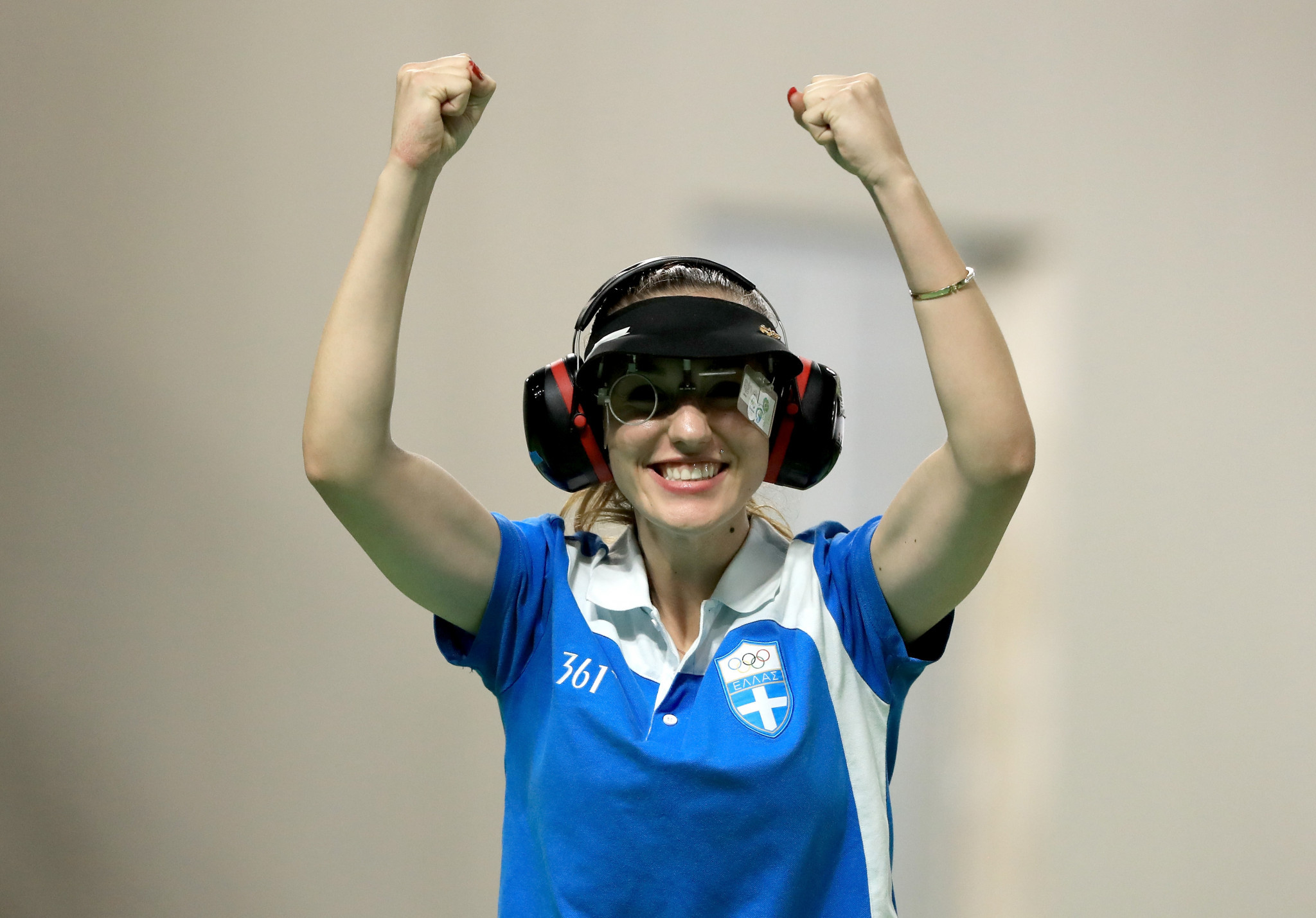 Greek Olympic champion Anna Korakaki will feature in the women's 25m pistol at the ISSF Rifle and Pistol World Cup ©Getty Images