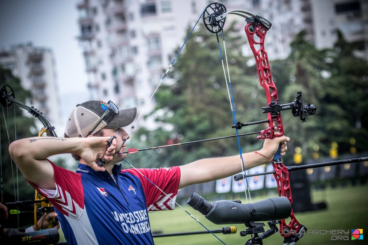 Lutz defeats Schaff in all-American men's compound final at Archery World Cup