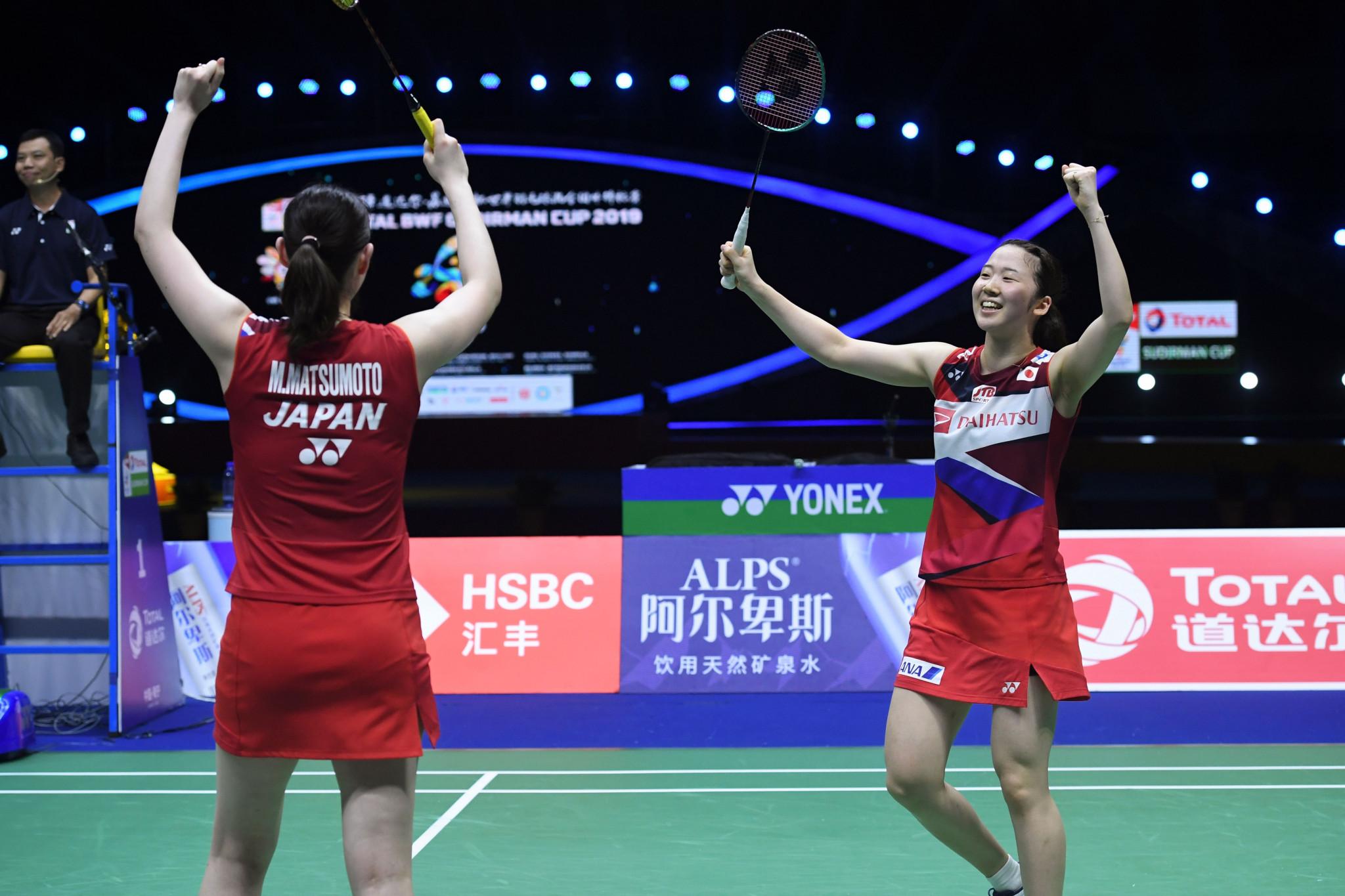 Maya Matsumoto and Wakana Nagahara's victory ensured Japan's passage through to face China ©Getty Images