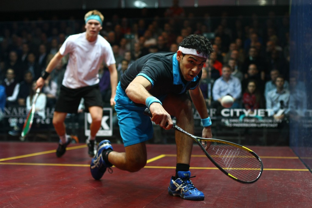 Mohamed Elshorbagy of Egypt is top of the PSA World Rankings for the 13th consecutive month ©Getty Images