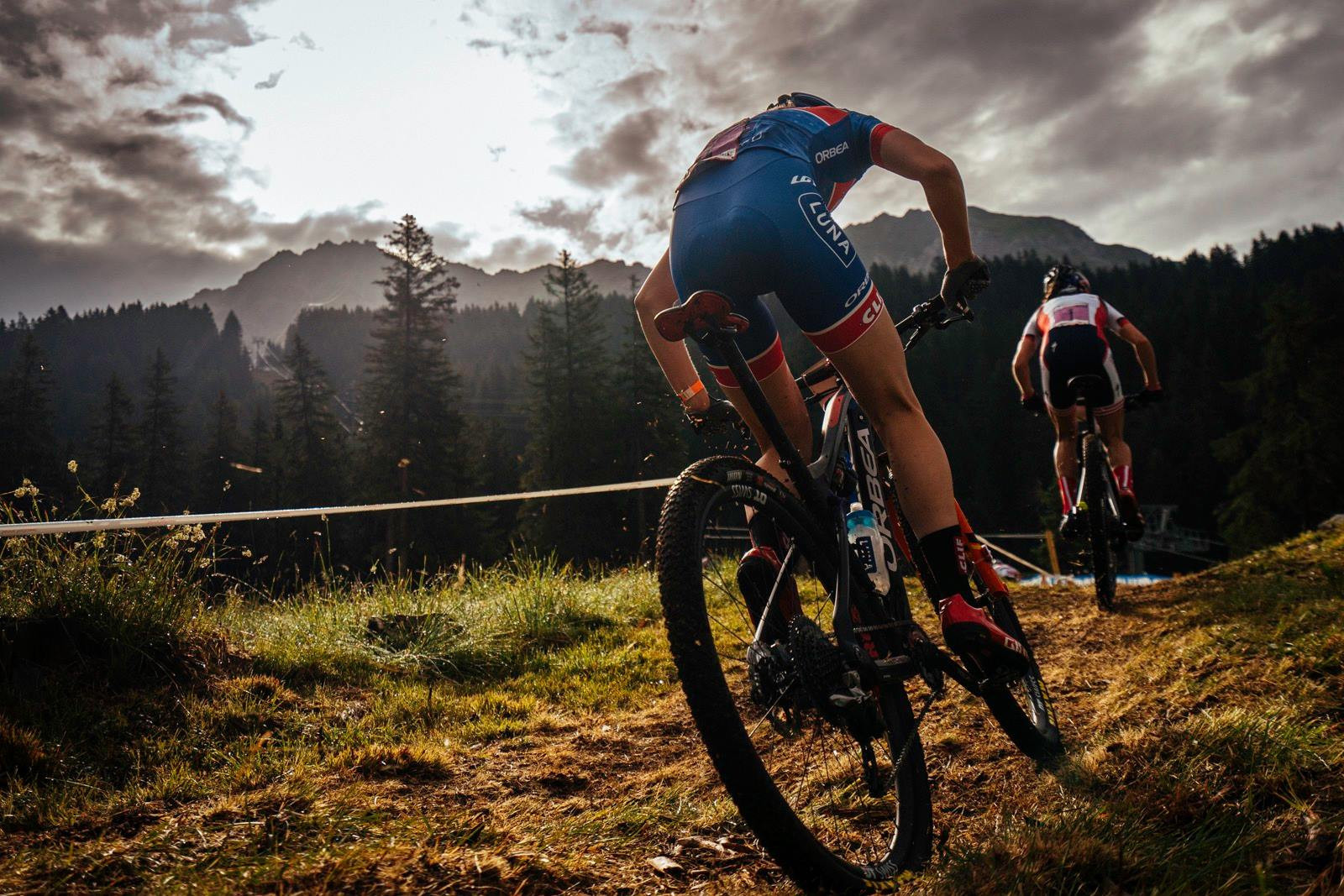 Haley Batten of the United States won the women's under-23 Olympic distance race at the UCI Mountain Bike World Cup ©Facebook