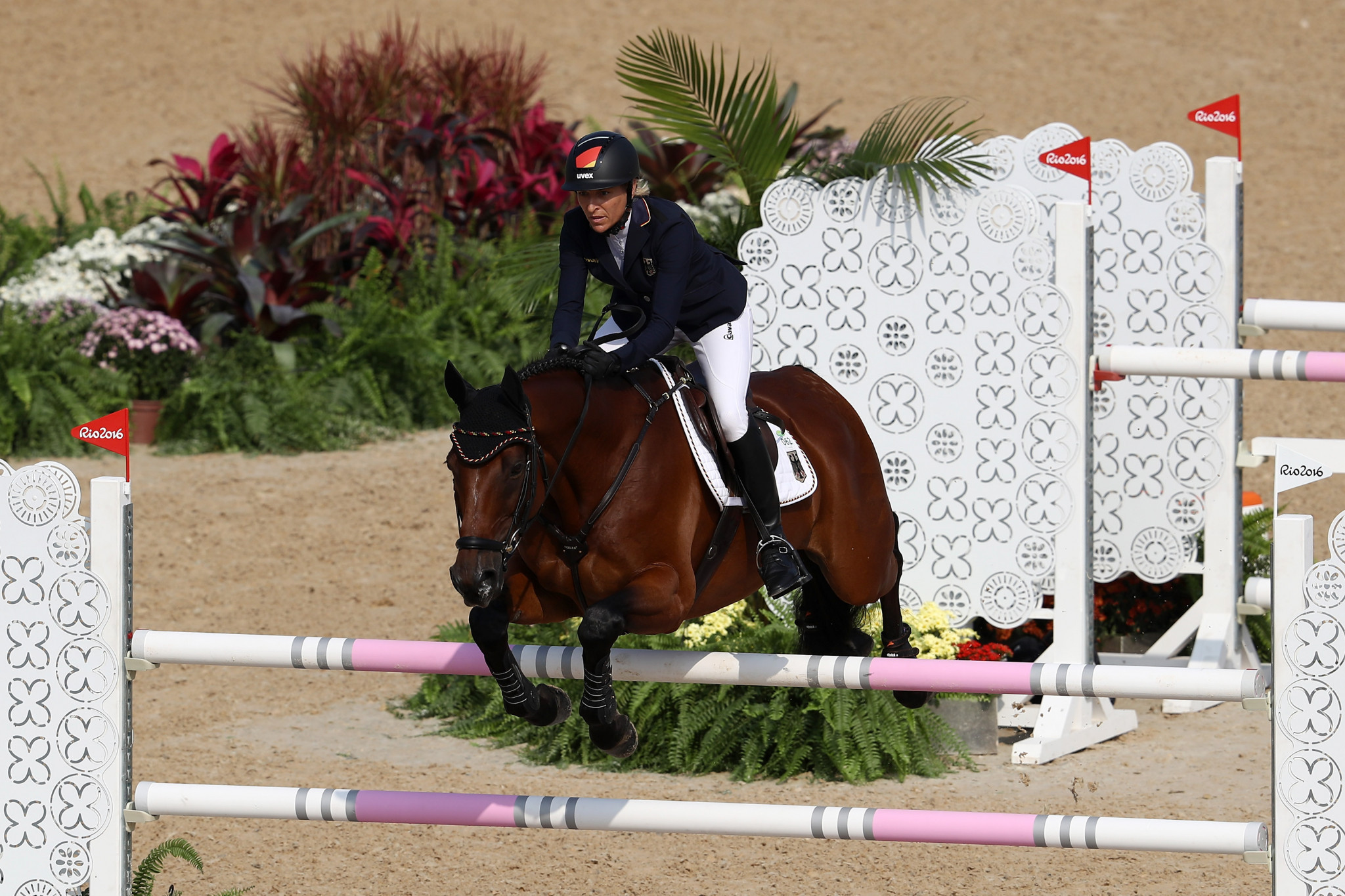 Show jumping errors put German lead under pressure ahead of final day in FEI Eventing Nations Cup at Houghton Hall