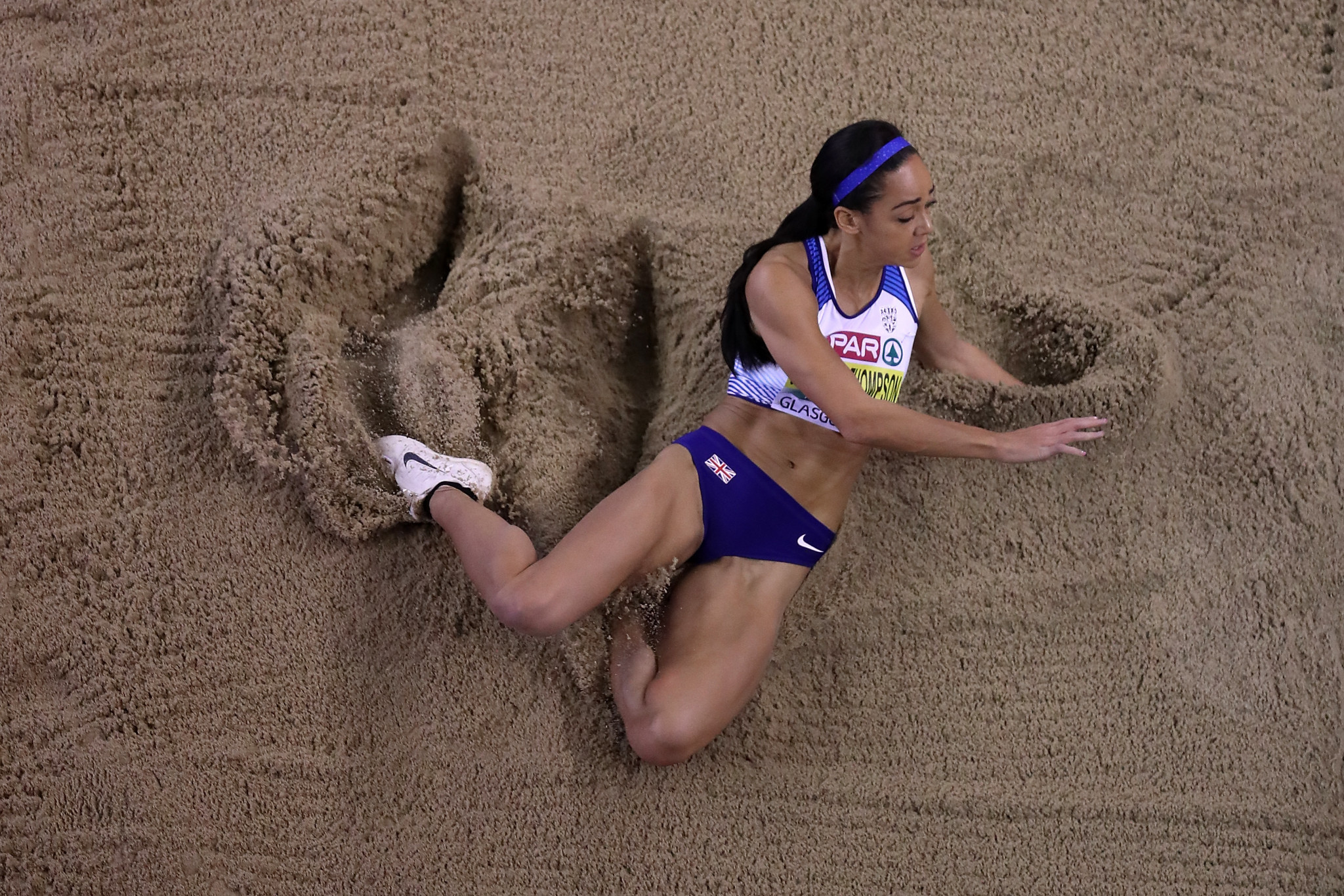 Indoor specialist Katarina Johnson-Thompson leads the way in the heptathlon ©Getty Images
