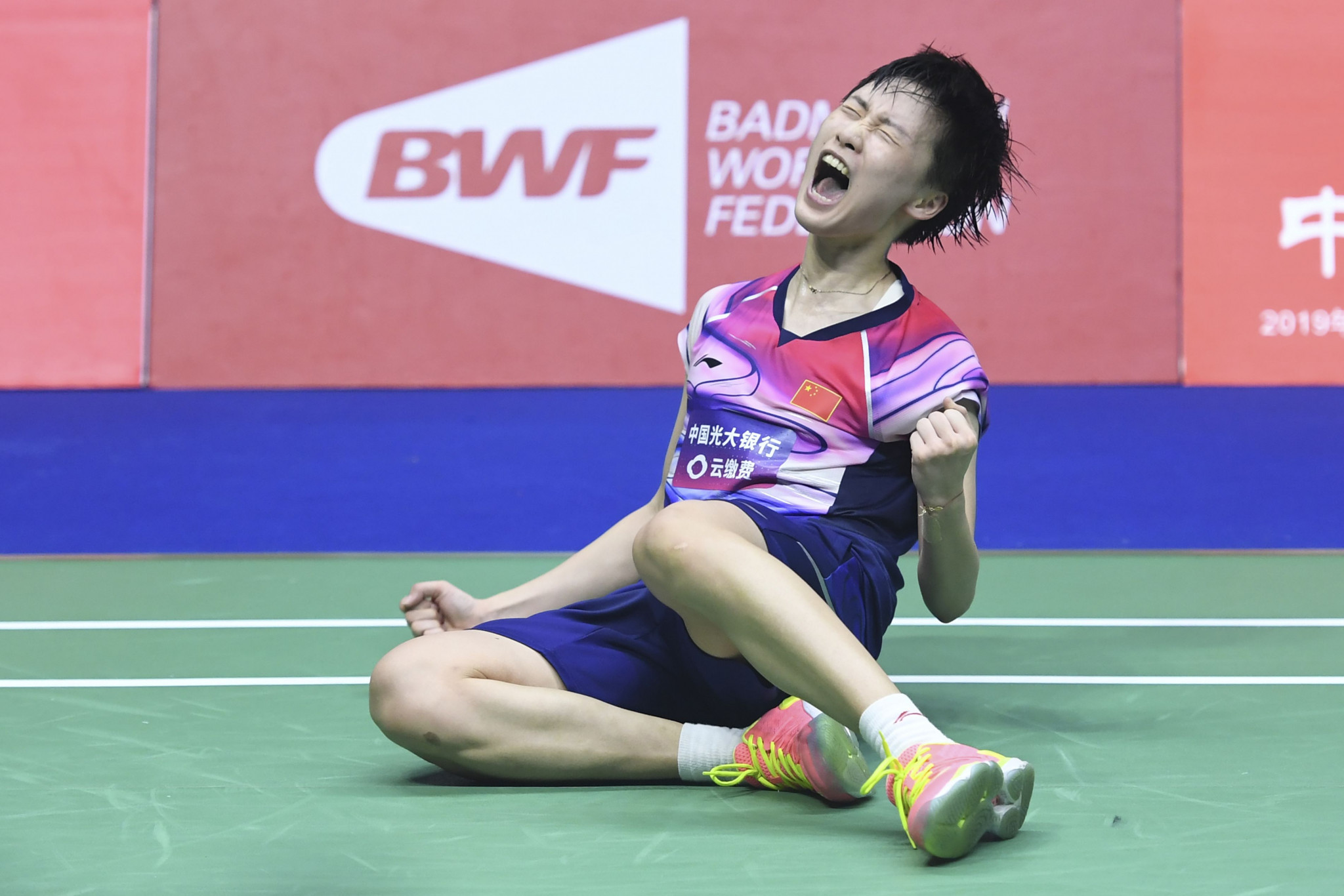 Chen Yufei battled to an all-important women's singles win ©Getty Images