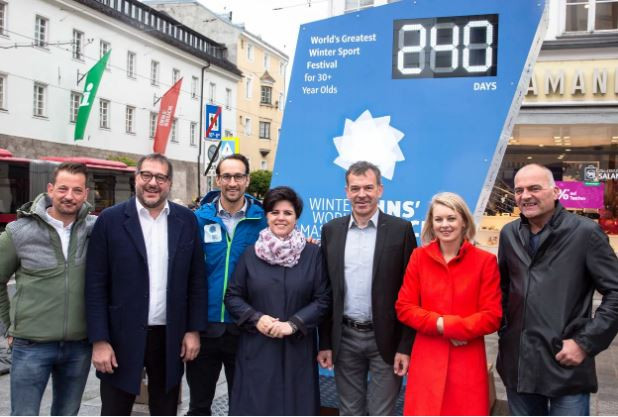 Innsbruck unveils countdown clock for Winter World Masters Games 2020