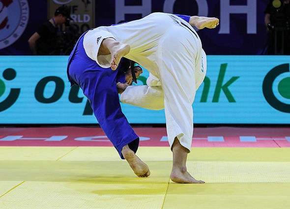 Kim upsets former Olympic champion to clinch heavyweight gold at IJF Grand Prix in Hohhot