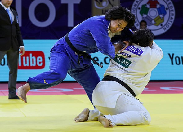 Cuban legend Idalys Ortiz clinched the heavyweight title by defeating Japan's Maya Akiba in the over-78kg final ©IJF