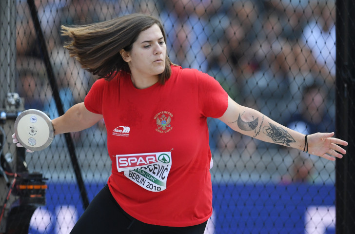 Montenegro's former world under-20 discus champion Kristina Rakocevic has been involved in promoting the Games of the Small States of Europe that will be held this week in her country, and could figure significantly in them ©Getty Images