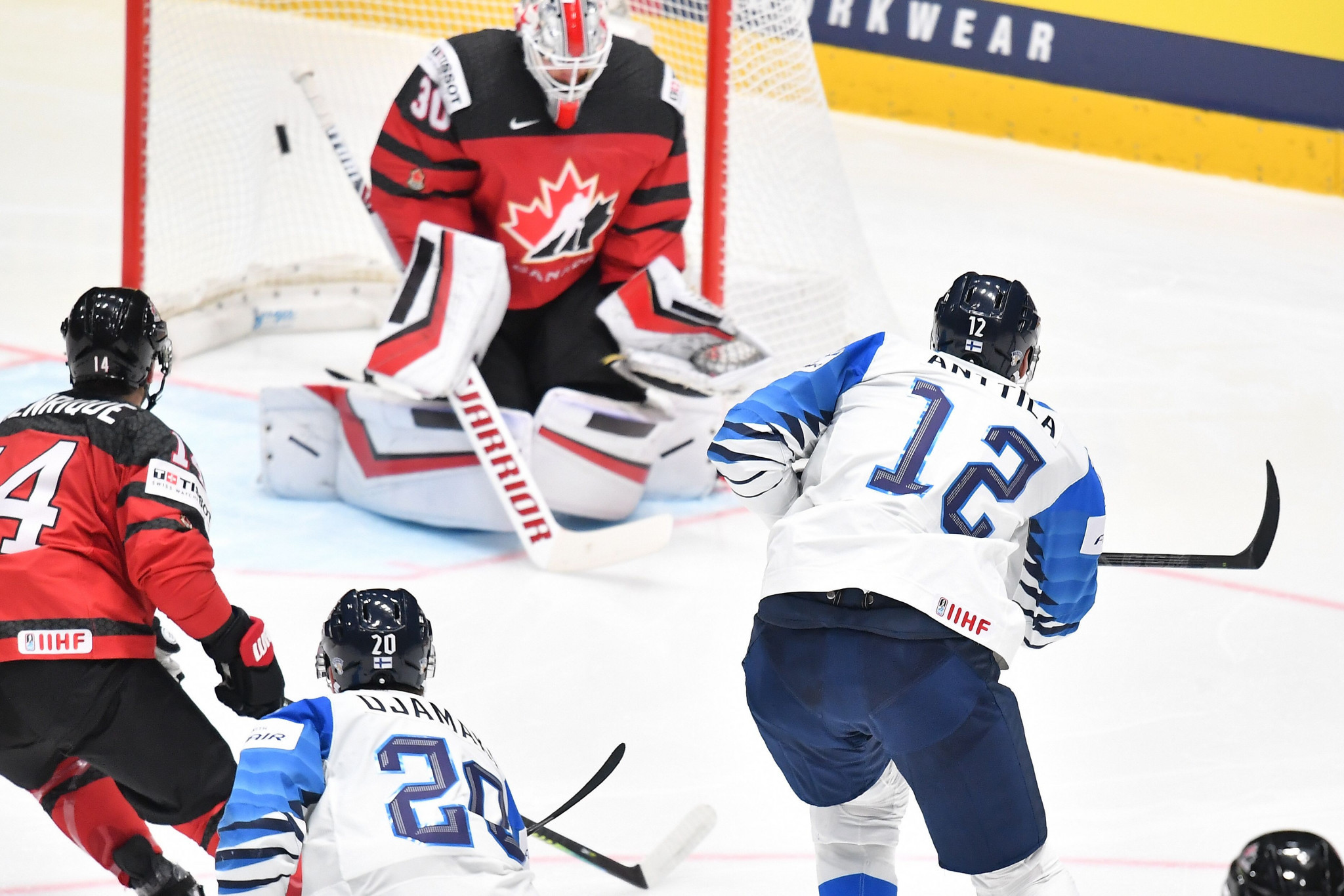 Marko Anttila scored two for Finland in their victory against Canada in the IIHF World Championship ©Getty Images
