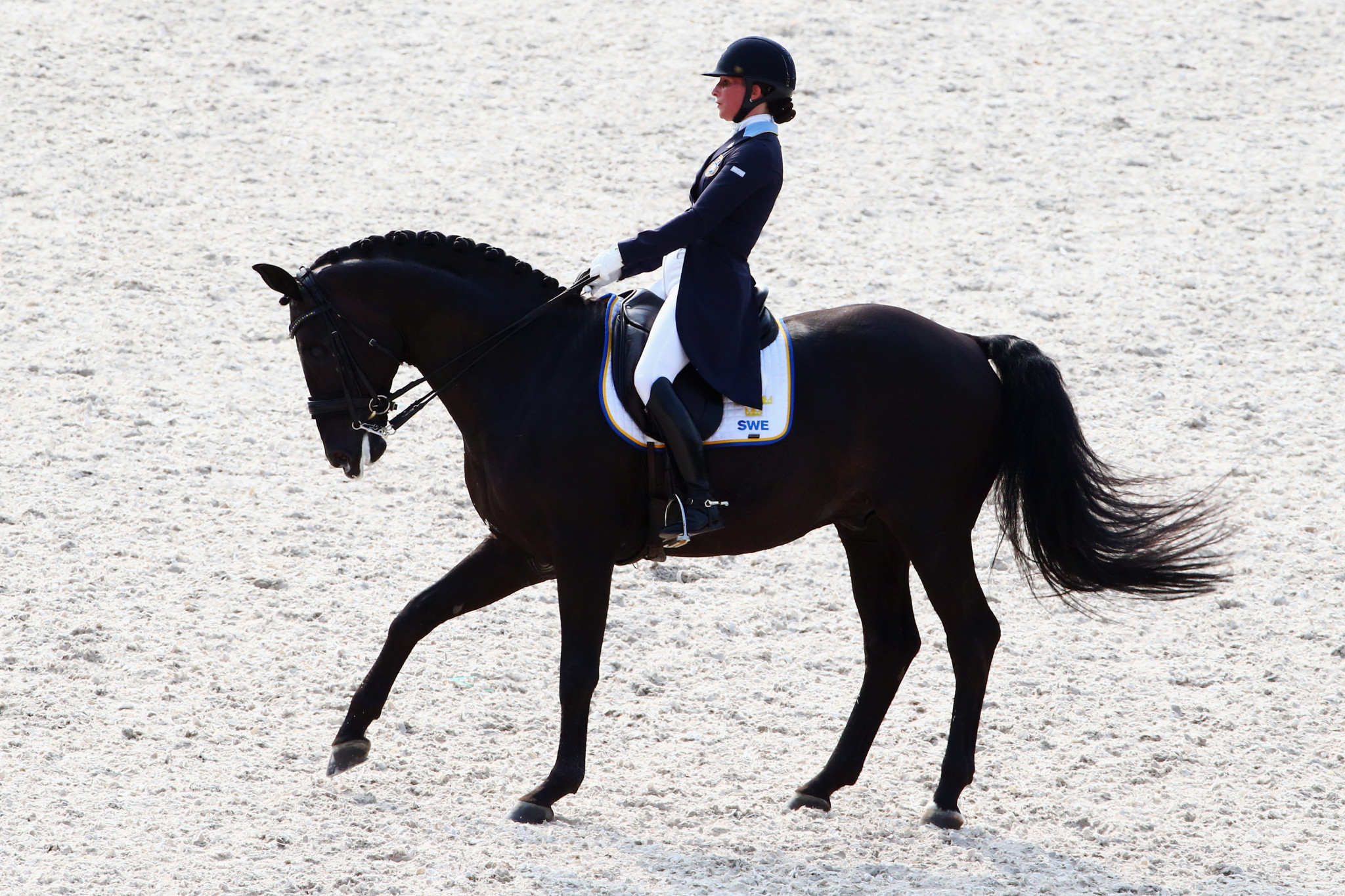 Sweden's Minna Telde impressed at the FEI Dressage Nations Cup in Uggerhalne ©Getty Images